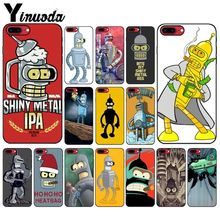 Yinuoda Futurama Bender Smart Cover Black Soft Shell Phone Case for iPhone 6S 6plus 7 7plus 8 8Plus X Xs MAX 5 5S XR