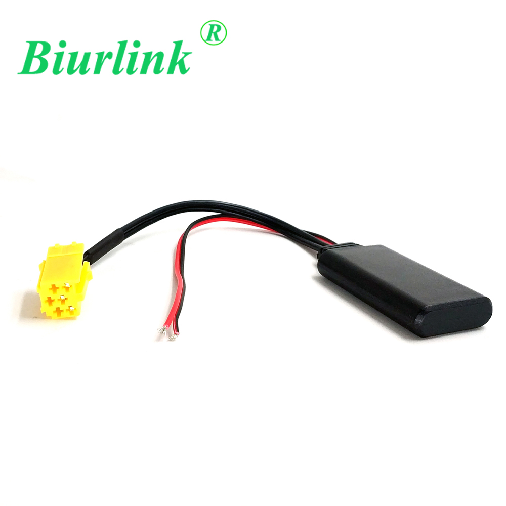 biurlink car yellow 6pin mini iso aux in bluetooth module audio adapter cable for fiat [ 1000 x 1000 Pixel ]