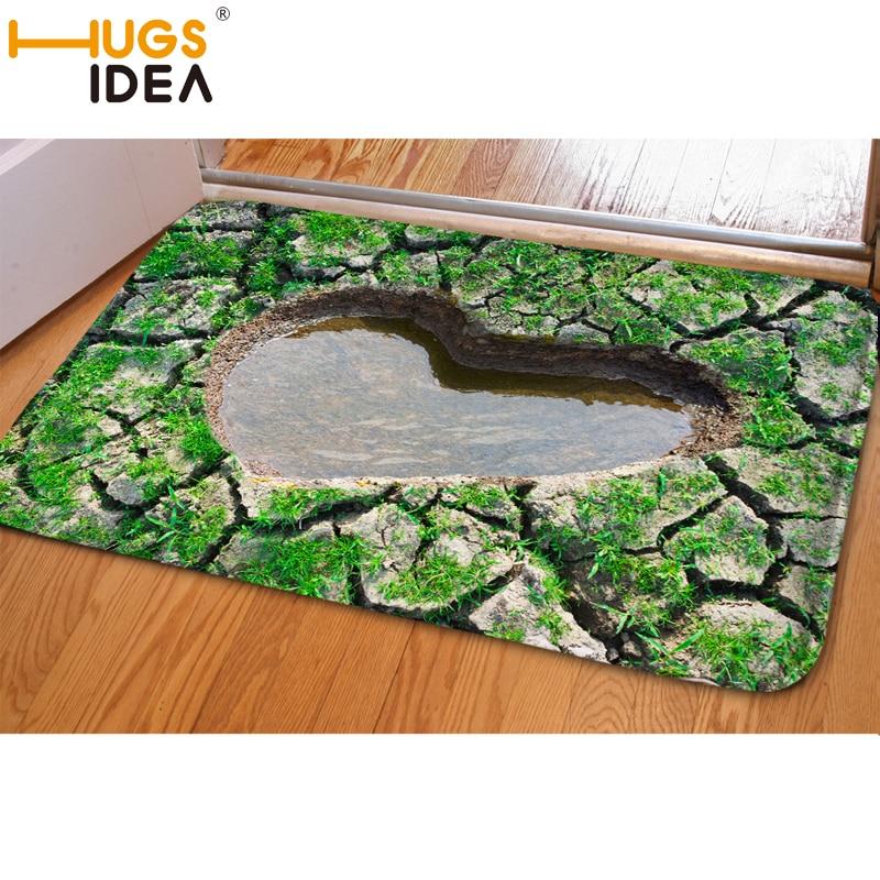 HUGSIDEA 3D Falle Grün Lustige Eingang Fußmatte Weiche - Haustextilien - Foto 3
