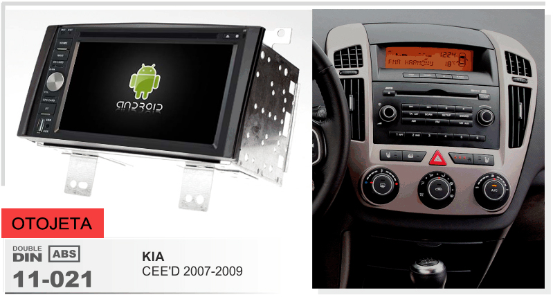 Рамки + android 6,0 dvd плеер автомобиля для kia ceed 2007 2009 2008 мультимедиа клейкие ленты регистраторы 4G lite стерео штатные радио gps navi