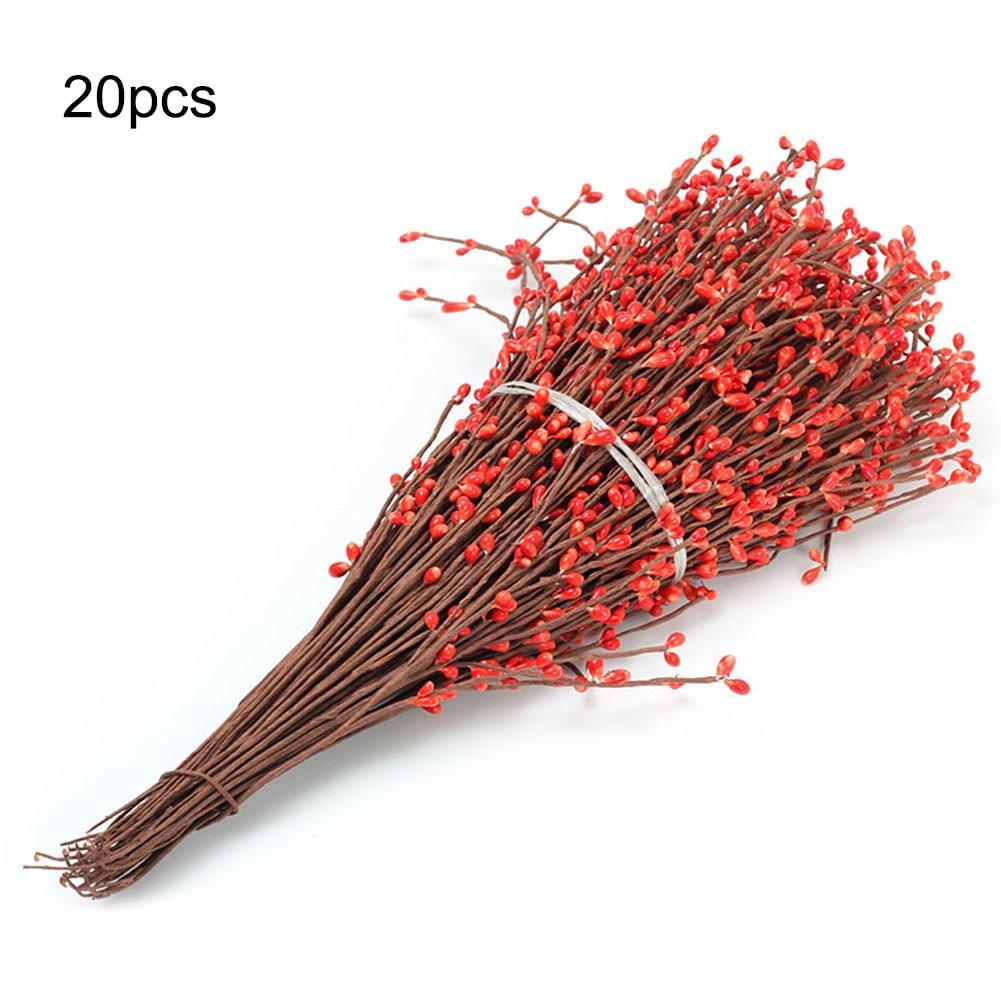 20 шт./компл. искусственные гнущиеся ягодные Стволовые гирлянды из ротанга DIY