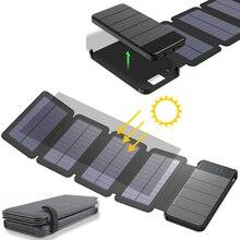 KERNUAP солнечные панели 8 Вт sunpower Батарея с power bank 20000 мАч Универсальный Портативный телефон Зарядное устройство можно удалить внешний Батарея