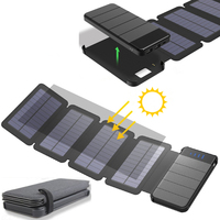 KERNUAP Solar panel 8W sunpower battery with power bank 20000mAh universal Portable Phone Charger can remove External Battery