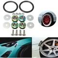 Universal Car Anto Bumper Quick Release Fastener Screw Bolt Loop Ring Trunk Kit