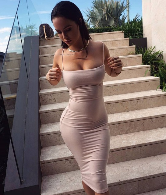 806c8ef561 Kyliejenner Dress Sexy dress Dress Kim Kardashian Deviz Queen Women  Sleeveless Strapless Dresses Wrap Knee-length
