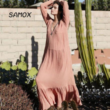 2019 New Summer Maxi Dress Fashion Women Retro Bohemian Style Beach Dress Long Dress