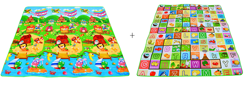 HTB1C2KWa.uF3KVjSZK9q6zVtXXav Baby Play Mat 0.5cm Thick Crawling Mat Double Surface Baby Carpet Rug Animal Car+Dinosaur Developing Mat for Children Game Pad