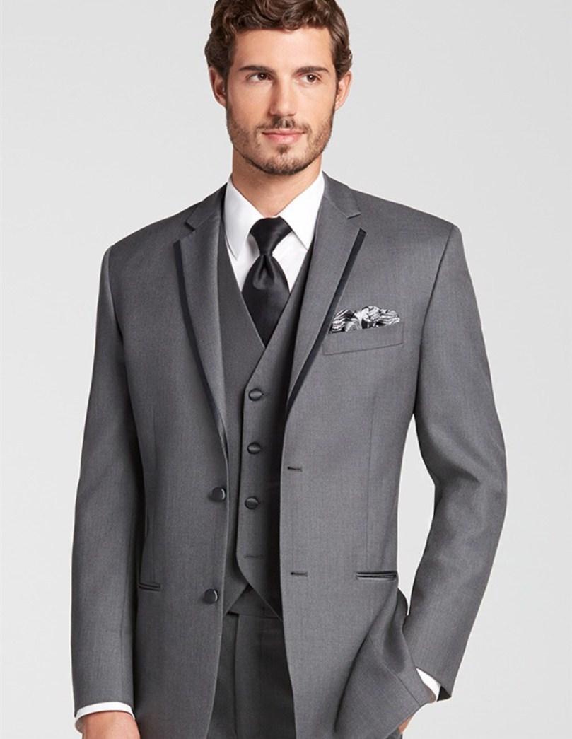 Wedding Suits For Men Custom Suit Tuxedo Light Gray 3