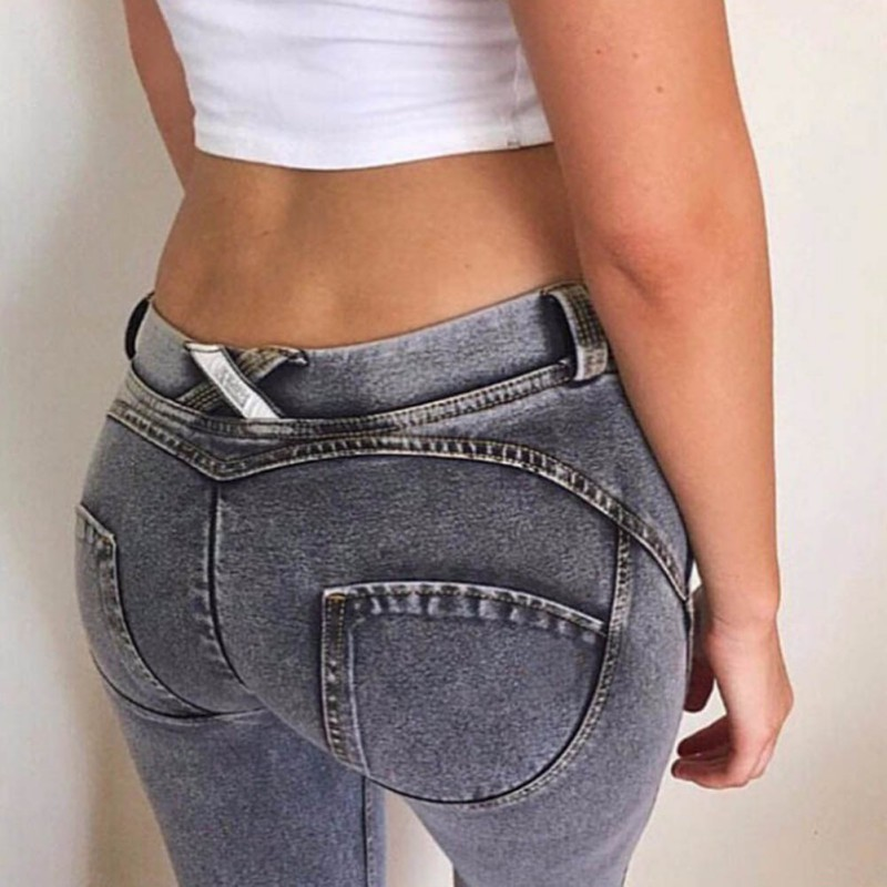American Apparel Jeans Pants Femme Women Low Waist Sexy Hip Push Up Jeans Pantalon Femme Trousers