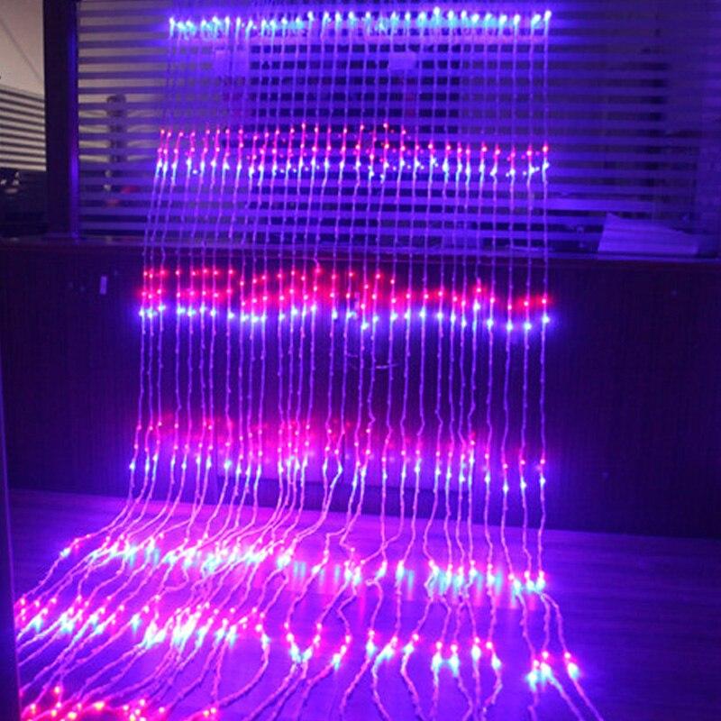 Fée 3x3 m 320 led Cascade LED Paysage Lumière de Corde Nouvelle Année De Noël Guirlande De Mariage lampe luminaria lustre décoration