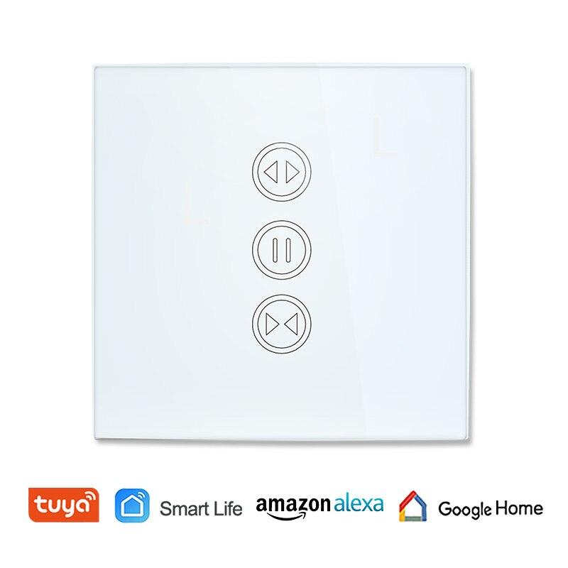 Tuya vida inteligente WiFi cortina interruptor eléctrico motorizado cortina ciega de obturador de Google Alexa de Amazon, Control de voz