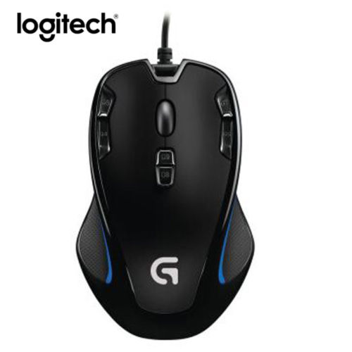 Logitech G300S Gaming Mouse 2500DPI Ergonomic Wired Optical Computer Gamer Mice logitech g90 usb 2 0 2500dpi wired led optical gaming mouse