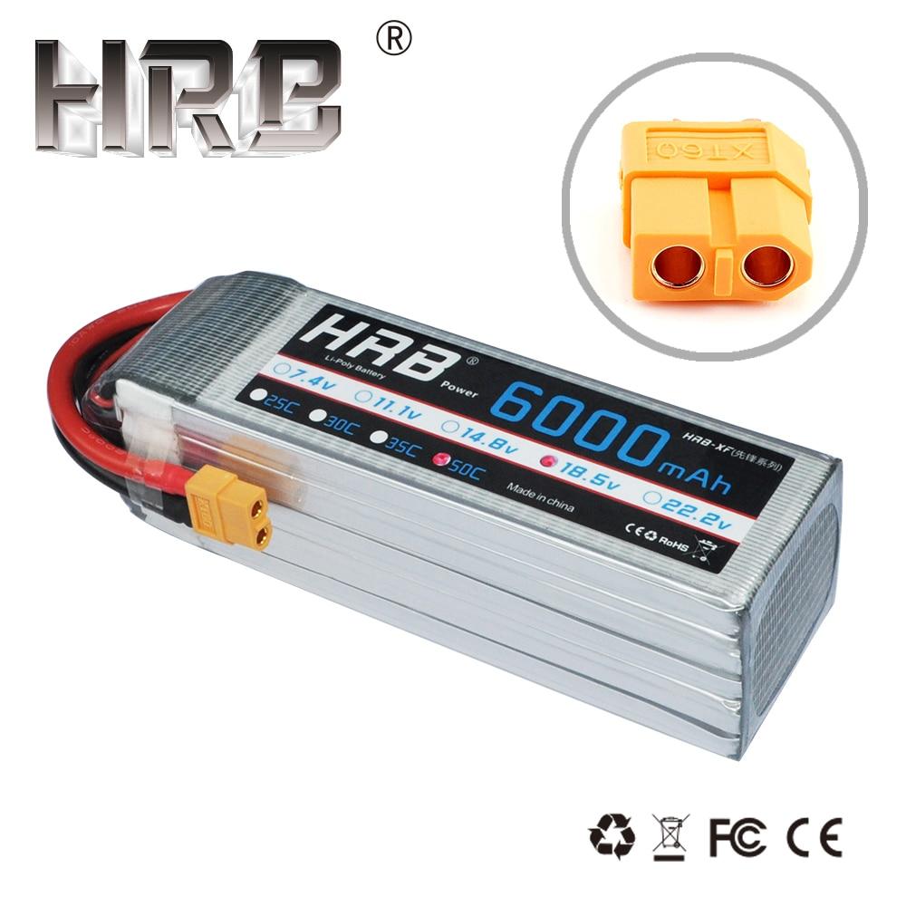 HRB akumulator do RC Lipo 5S 18.5V 6000mAh 50C z XT60 do śmigłowców RC samochodu akumulator litowo polimerowy Drone FPV AKKU w Części i akcesoria od Zabawki i hobby na  Grupa 1