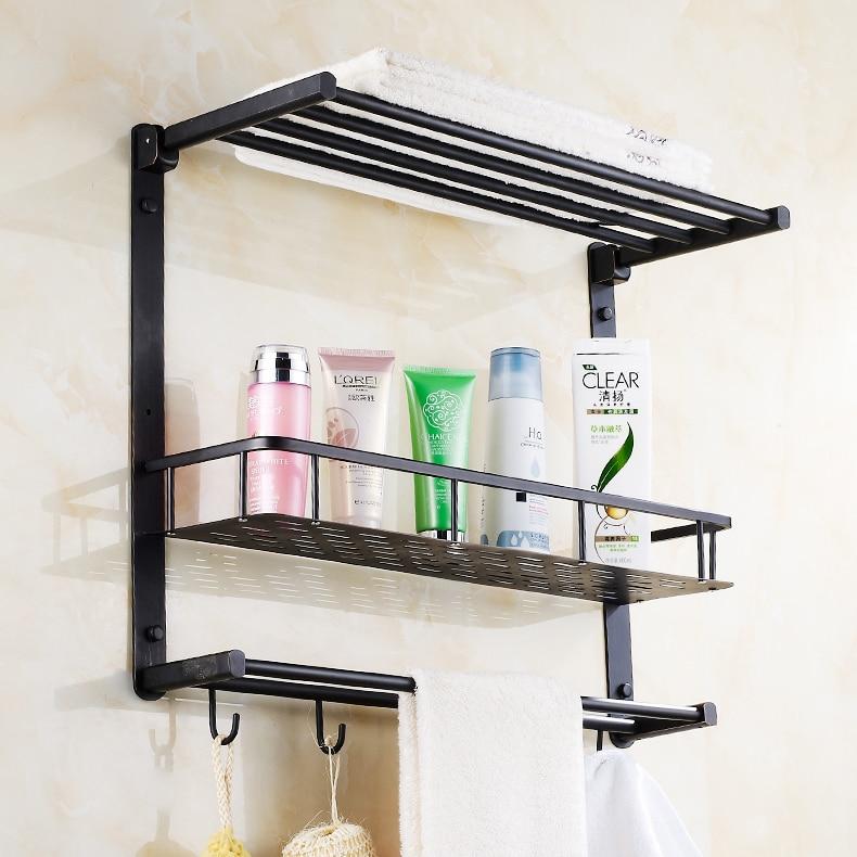 Oil Rubbed Bronze Luxury Bathroom Storage Rack Bath Towel Shelf ...
