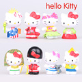 2016 NEW hot 5CM Hello Kitty Toys 8 Pcs/Set Best action figure toys Cool Christmas gift doll