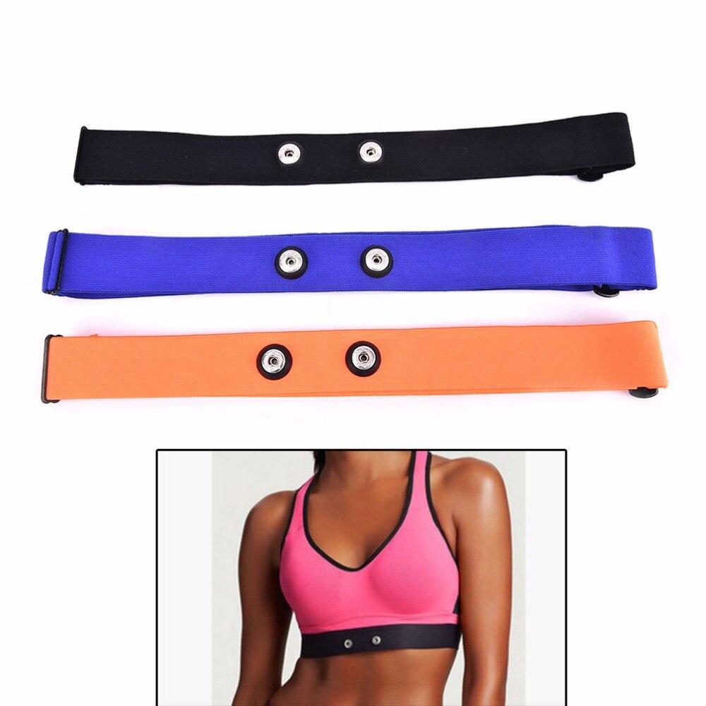 1PC Adjustable Chest Belt Strap For Garmin Wahoo Polar Sport Heart Rate Monitor