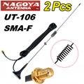 Frete grátis! 2 PCS Ímã NAGOYA UT-106UV SMA-Feminino Dual Band Móvel Antena de Rádio ICOM Yaesu