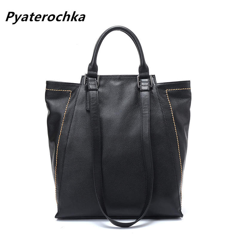 Pyaterochka Women Handbag Genuine Leather Shopper Big Bag Fashion Shoulder Bags For Women 2019 Ladies Luxury Office HandbagsPyaterochka Women Handbag Genuine Leather Shopper Big Bag Fashion Shoulder Bags For Women 2019 Ladies Luxury Office Handbags