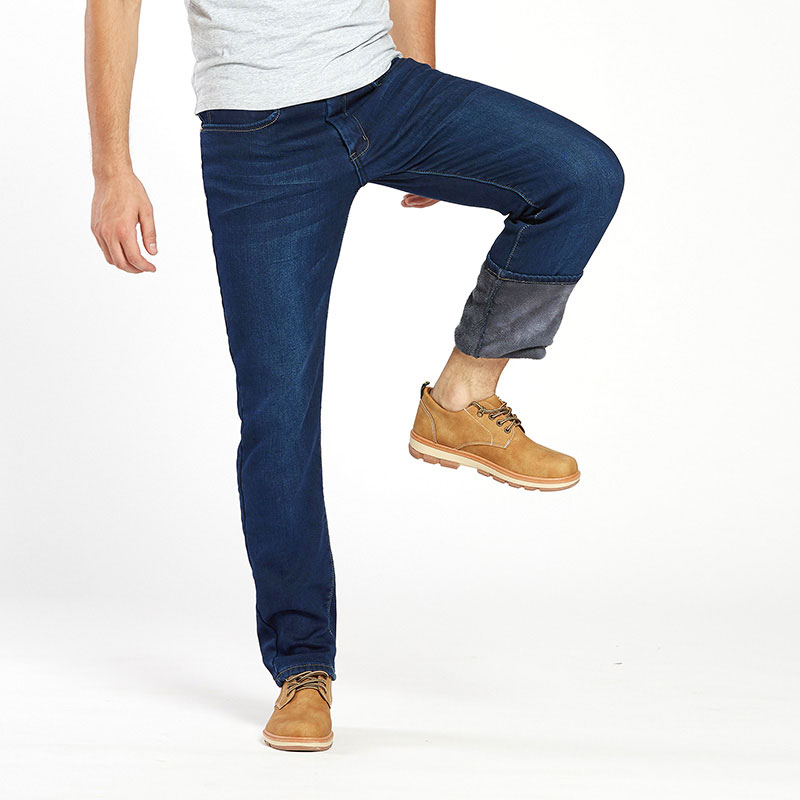 Thermal Warm Flannel Lined Jeans for Men 3