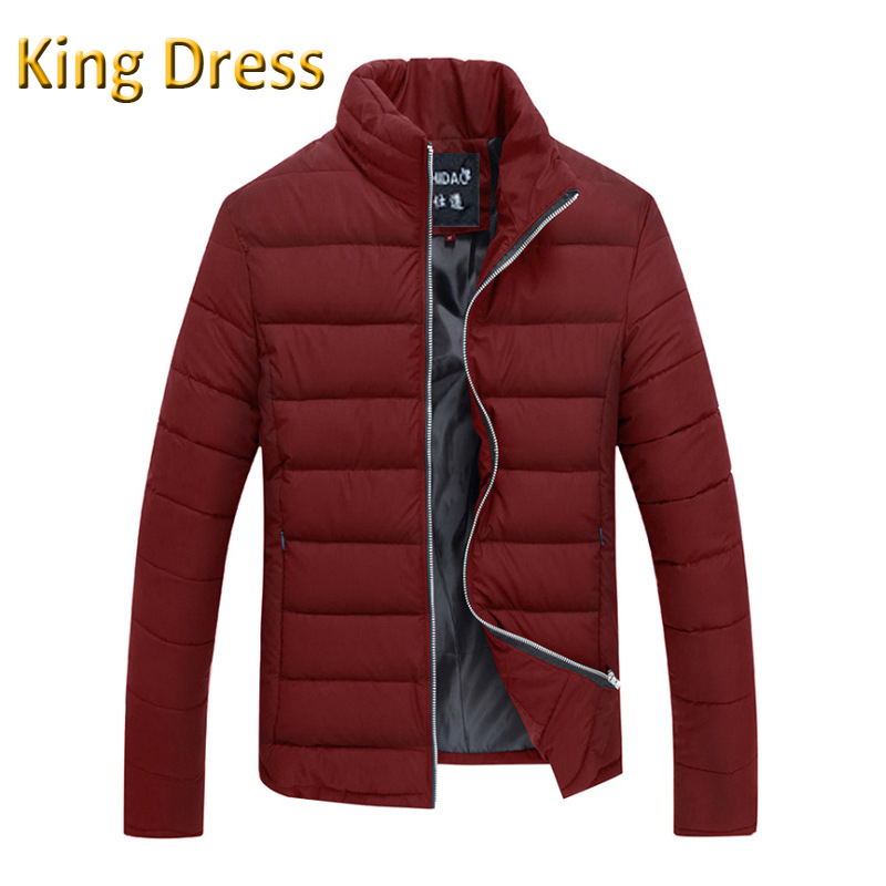2016 Real Rushed Polyester Regular Standard Jackets Mens Men Jacket Winter Good Quality Collar Cotton Padded