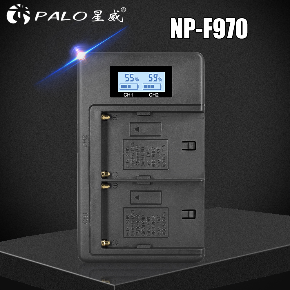 NP-F960 970 NP F970 NPF970 LCD Digital Battery Charger For SONY F930 F950 F770 F570 CCD-RV100 NP-F550 NP-F770 NP-F750 F960 F970