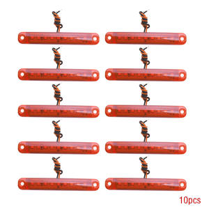 Image 1 - 10 шт. красный 24 в 9 автомобильный светодиодный SMD автомобильный автобус грузовик боковой маркер индикатор низкий светодиодный светильник для прицепа задняя боковая лампа