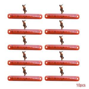 Image 1 - 10 sztuk czerwony 24V 9 Led smd Auto samochód autobus ciężarówka ciężarówka boczna obrysówka kierunkowskaz niskie Led lampy przyczepy tylna boczna lampa