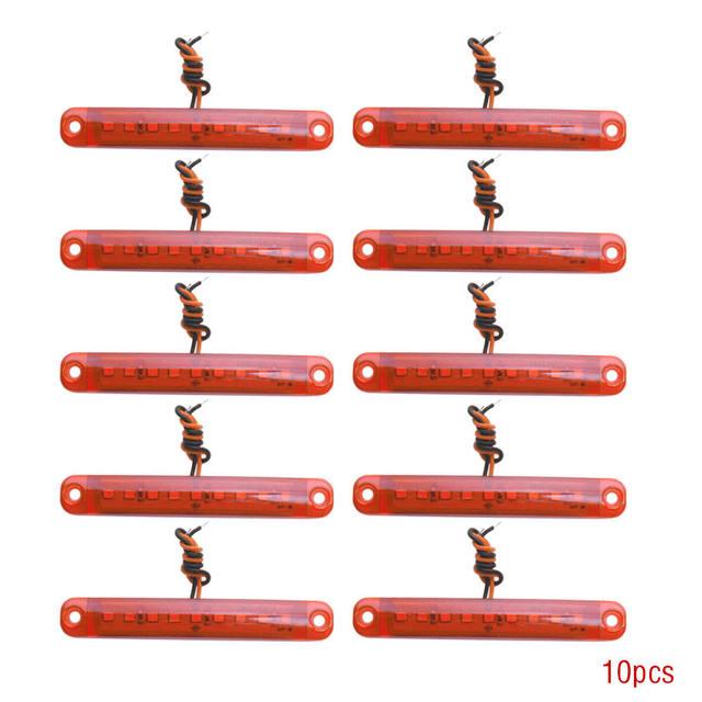 10 sztuk czerwony 24V 9 Led smd Auto samochód autobus ciężarówka ciężarówka boczna obrysówka kierunkowskaz niskie Led lampy przyczepy tylna boczna lampa