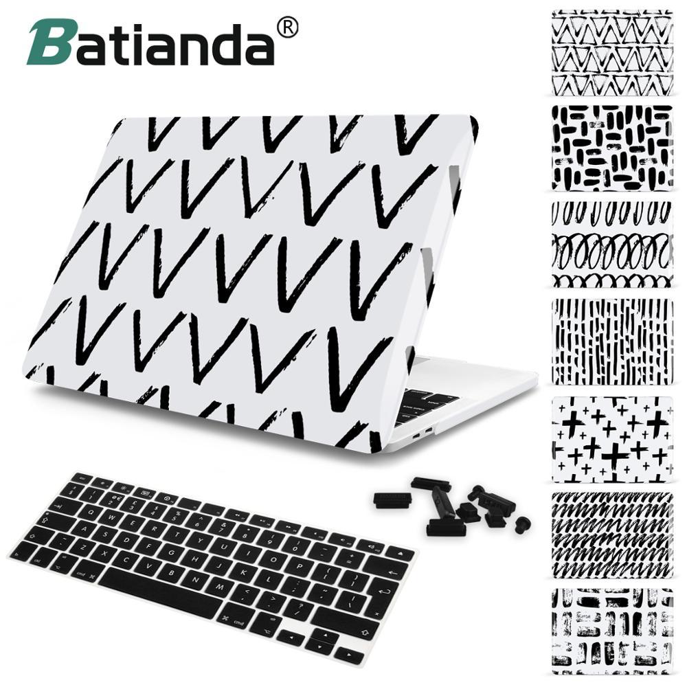 Batianda Laptop Case For Macbook Air Pro Retina 11 12 13 15 Hard Shell Cover 2018 2017 New Pro 13