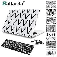 Batianda Laptop Case for Macbook Air Pro Retina 11 12 13 15 Hard Shell Cover 2018 2017 New Pro 13 15 Touch Bar A1706 A1989