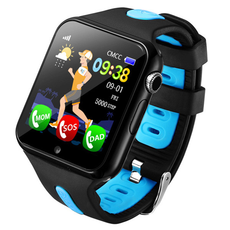 JQAIQ Kids Smart Watch Phone Support Sim Card Safety Monitoring Quick Call Safe Clock Emergency Security Smartwatch Kids Tracker