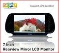 "7 ""Polegadas TFT LCD Monitor Do Carro Retrovisor Do Carro Monitor de USB SD Com MP5 FM Transmitter Model-766 GGG FREESHIPPING"