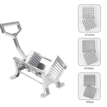 Stainless Steel French Fry Cutter Potato Chips Chopper Fruit Vegetable Shredder Cutting Machine With 3PCS Blade Kitchen Gadgets