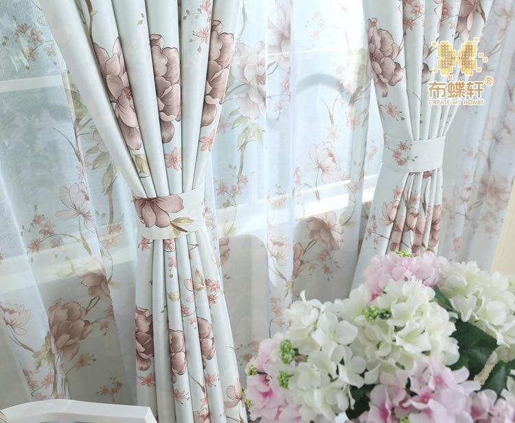 Tende Di Tulle Ikea : Pastorale americana ikea fiori stampa di seta di alta qualità panno