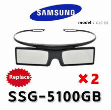 2X replacement active 3D Glasses SSG-5100GB TDG-BT500a/400 for Samsung Sony KD-55X8505C 3D TV and epson projector