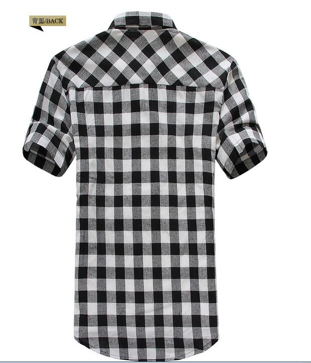 Męskie Plaid Koszule 2016 New Arrival Moda męska Kratę z
