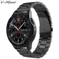 V MORO Stainless Steel Strap For Gear S3 Band Magnetic Closure Clasp Replacement Bands For Gear