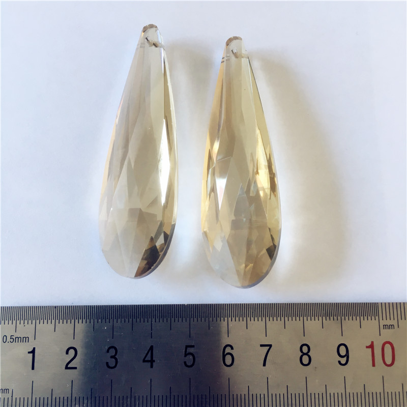 Free Shipping 50pcs 76mm cognac long drop crystal chandelier parts,crystal prism drop pendant for chandelier parts