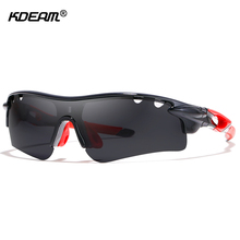 KDEAM Cyclist Sport Sunglasses Polarized For Men Full Coverage Protection Polaroid Glasses Driving include Package