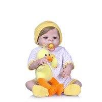 Nicery 22 дюймов 55 см Bebe Кукла реборн Жесткий Силиконовый мальчик девочка игрушка Reborn Baby Doll подарок для ребенка утенок игрушка кукла