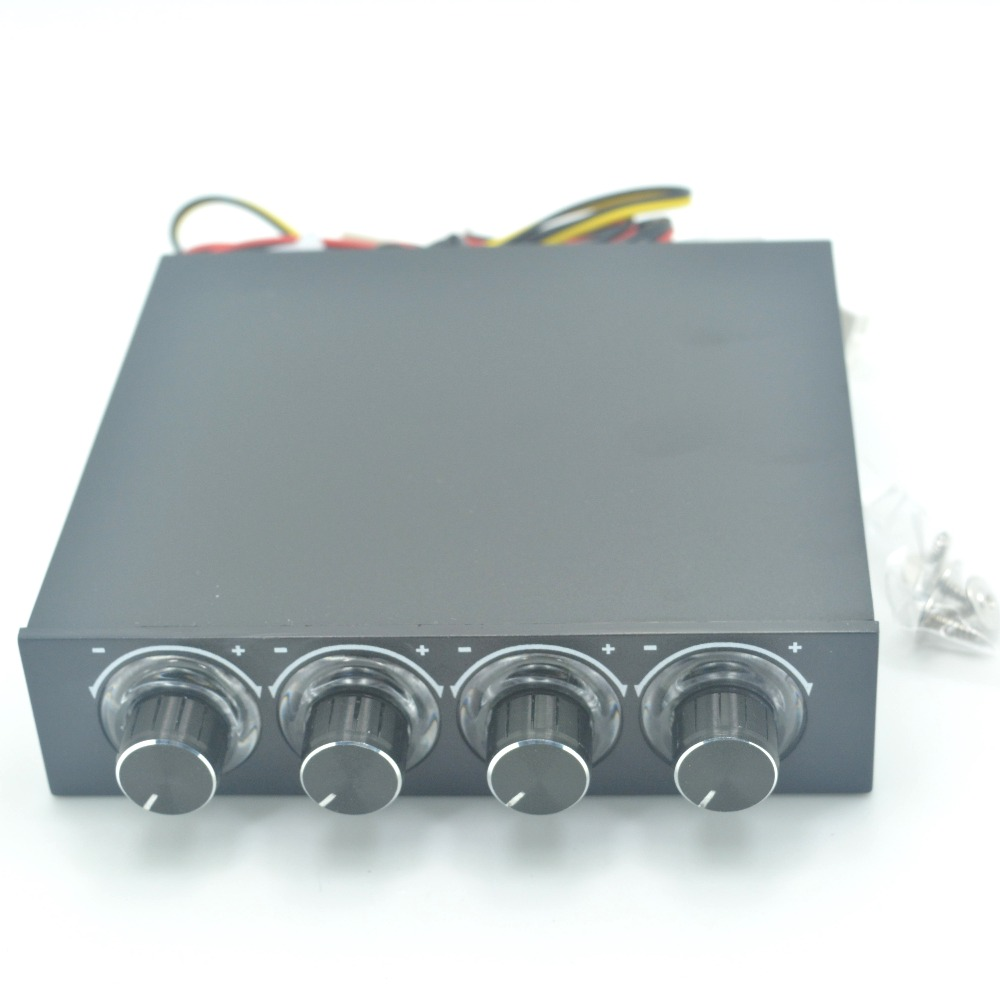 STW PC Case Floppy Position 4 -Channel Blue LED Speed Cooler Fan Controller Control Cooling