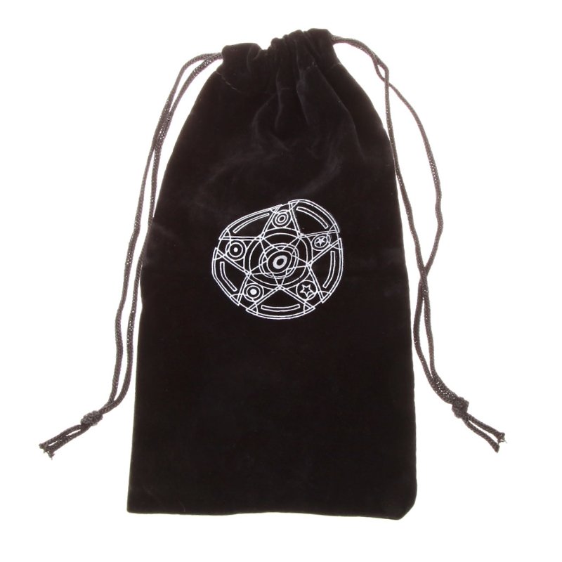Velvet Pentagram Tarot Card Storage Bag Toy Jewelry Home Mini Drawstring Package Board Game Tarot Storage Bag in Board Games from Sports Entertainment