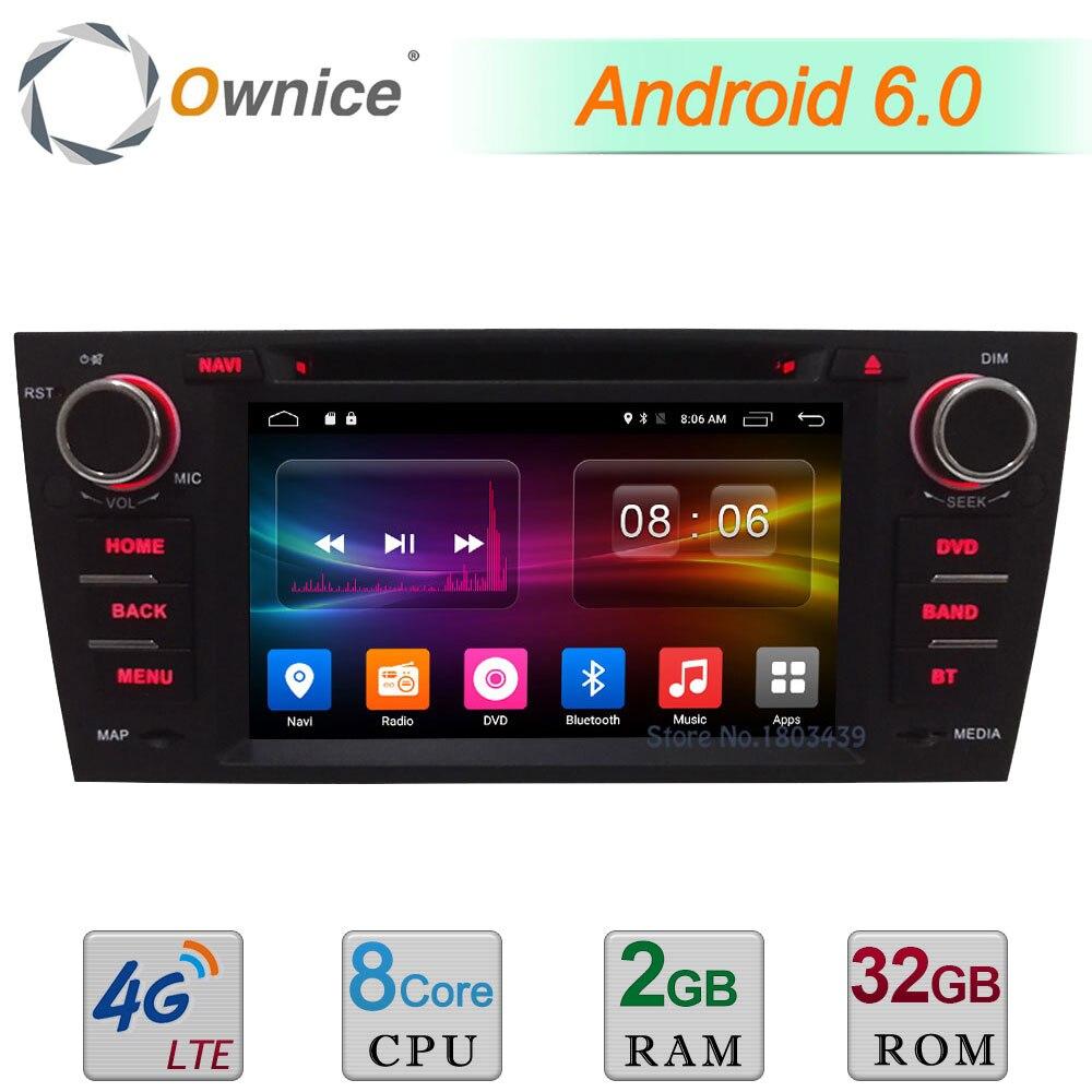 Android 6.0 7 &#8220;Octa core 4 г Wi-Fi 2 ГБ Оперативная память 32 ГБ Встроенная память dab USB Автомобильное DVD Радио плеер для <font><b>BMW</b></font> 3 серии <font><b>E90</b></font> E91 E92 E93 GPS навигации