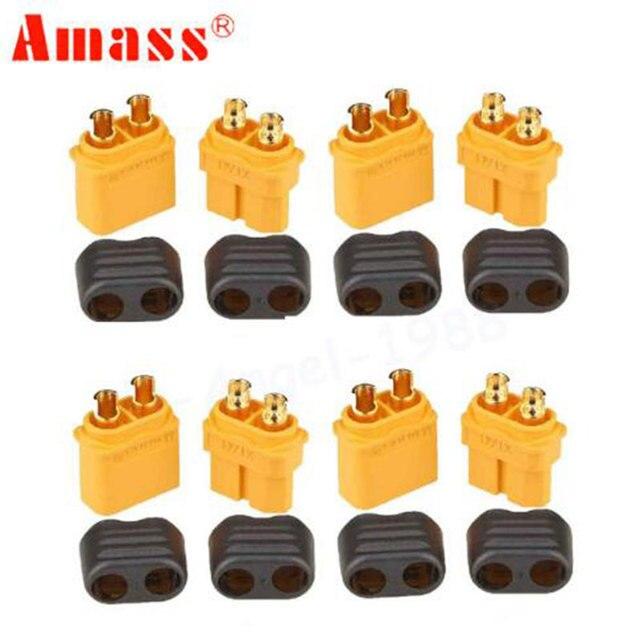 10pcs/5Pairs Amass XT60 XT60H Plug Connector With Sheath Housing 5 Male 5 Female  RC de la batería li-po bala conectores fpv dro
