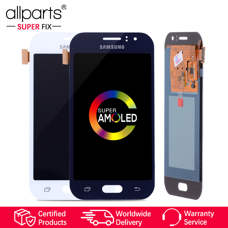 ORIGINAL 4.3'' Super AMOLED LCD for SAMSUNG Galaxy J1 Ace Display J110 J110H J110F J110M LCD Touch Screen Digitizer Replacement
