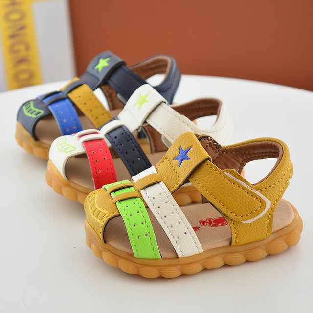 d39931ce76 Children's Shoes for Boys Sandals 2017 New Summer Toddler PU Sandals Baby  Beach Shoes First Walkers for Boys Shoes Free Shipping
