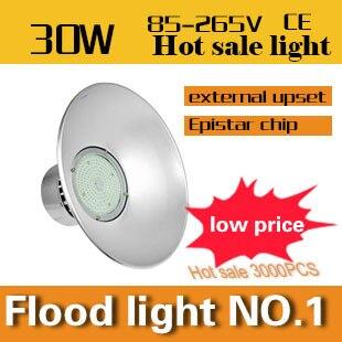 ФОТО All aluminum LED bay light series 30W Industrial Task Lighting  AC110-240V CE&ROHS Outdoor droplight free shipping
