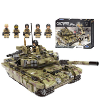 Army Tank Building Blocks Military Vehicles Bricks Compatible LegoING Weapons Toys for Children