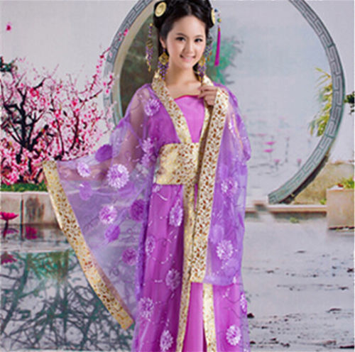 Gratis Verzending Hot Koop Nieuwe Paars Chinese Oude Traditionele Infanta Dramaturgisch Kostuum Robe Prinses Jurk Klanten Eerst