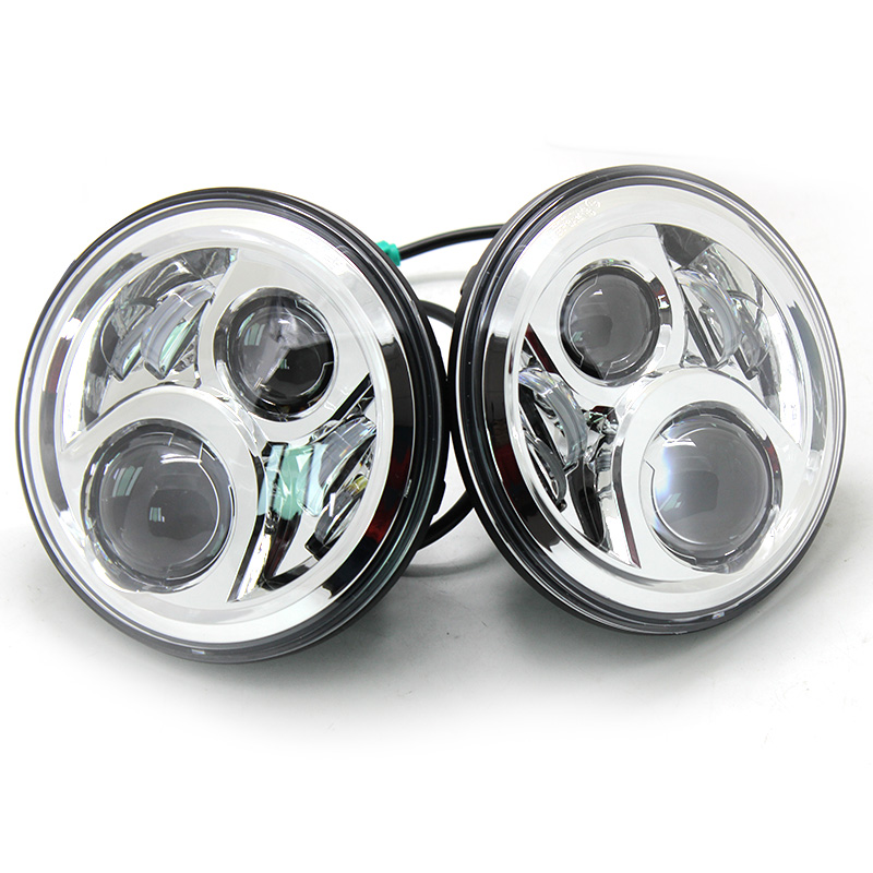 7 Inch 6 Leds Round Headlights For Jeep Wrangler 7 LED Headlamp With H4 High Low